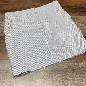 J Crew Pinstripe Nautical Preppy Skirt Size 0